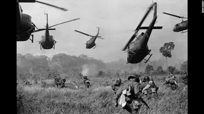 Helicopters Taking Off is listed (or ranked) 2 on the list Cool Old School Pictures From Vietnam
