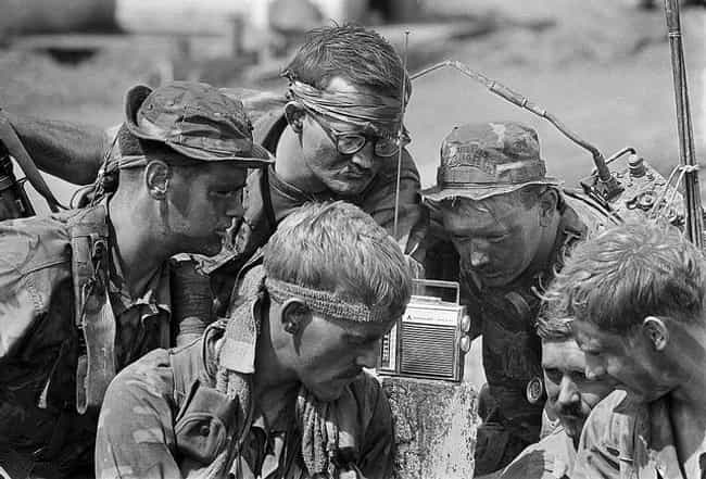 Soldiers Listen to a Radio is listed (or ranked) 1 on the list Cool Old School Pictures From Vietnam