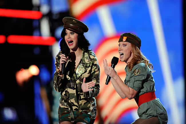 Katy Perry and Kathy Griffin i... is listed (or ranked) 3 on the list Cool Photos of Celebrities Entertaining the Troops