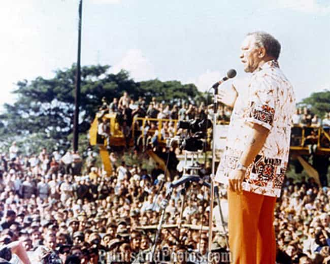 Redd Foxx Performing in Vietna... is listed (or ranked) 2 on the list Cool Photos of Celebrities Entertaining the Troops