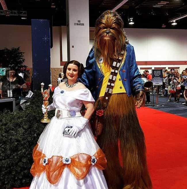 Star Wars/Beauty and the Beast is listed (or ranked) 4 on the list Creative Crossover Costumes You Should Steal This Halloween