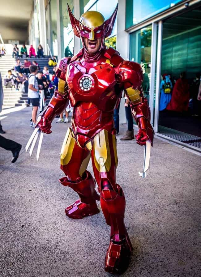 Wolverine Iron Man is listed (or ranked) 2 on the list Creative Crossover Costumes You Should Steal This Halloween