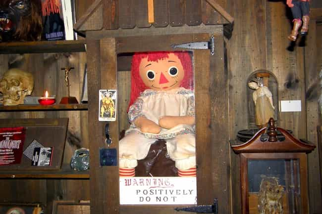 Annabelle the Doll is listed (or ranked) 4 on the list Terrifying Cursed Objects That Actually Exist