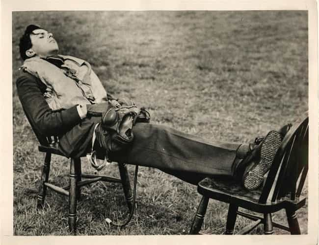 RAF Pilot Grabs a Nap During t... is listed (or ranked) 1 on the list Old School Pictures from World War 2