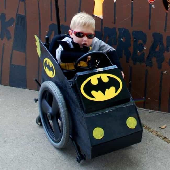 Batman in His Batmobile ... is listed (or ranked) 3 on the list 21 Awesomely Creative Costumes for People with Disabilities