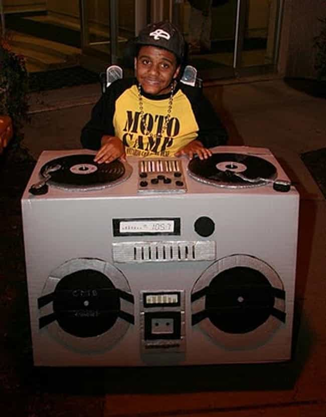 DJ Spinning Sick Beats ... is listed (or ranked) 4 on the list 21 Awesomely Creative Costumes for People with Disabilities