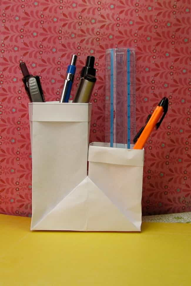 Two Cup Pencil Holder is listed (or ranked) 3 on the list Origami You Can Use in Everyday Life