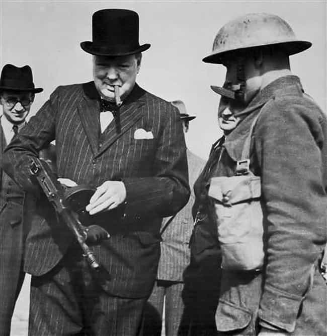 Winston Churchill Relaxes With... is listed (or ranked) 1 on the list Politicians Holding Guns: Who Does It Best?