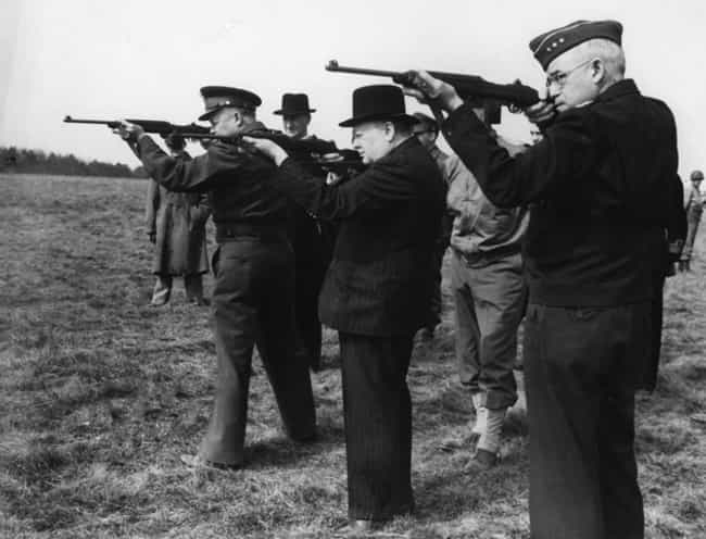 Eisenhower and Churchill Get D... is listed (or ranked) 2 on the list Politicians Holding Guns: Who Does It Best?