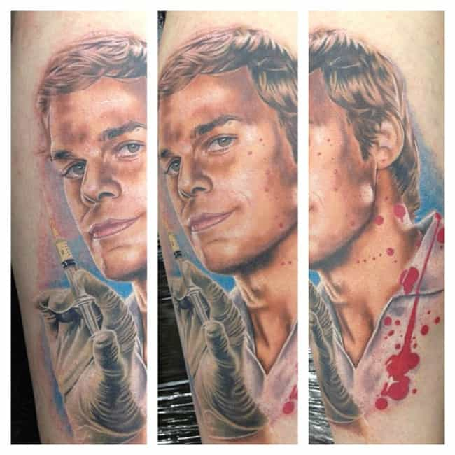 Uh-Oh...the Doctor Is In is listed (or ranked) 2 on the list 25 Incredible Tattoos Inspired by Dexter