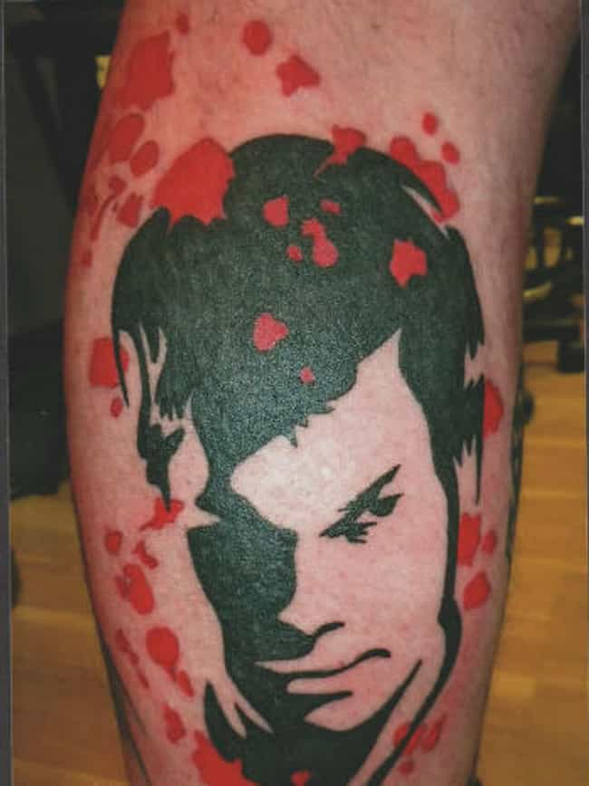 Banksy Meets Dexter Morgan is listed (or ranked) 4 on the list 25 Incredible Tattoos Inspired by Dexter