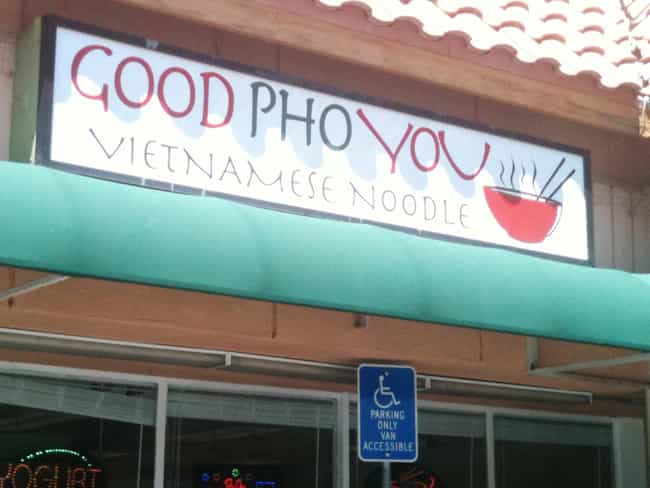 One Benefit of Healthy Food is listed (or ranked) 4 on the list The Most Un Pho Gettable Pho Restaurant Puns
