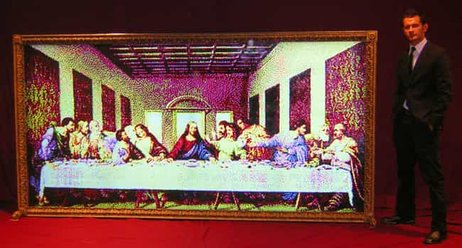 The Last Lite-Brite Supper is listed (or ranked) 2 on the list The Flashiest Lite-Brite Art on the Internet