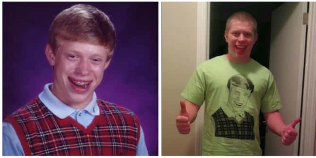 Bad Luck Brian is listed (or ranked) 8 on the list 25 Stories of the Real People Behind Memes