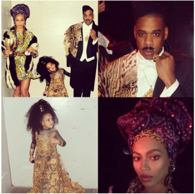 Beyonce, Jay Z, and Blue Ivy A... is listed (or ranked) 4 on the list The Greatest Celebrity Halloween Costumes Of All Time