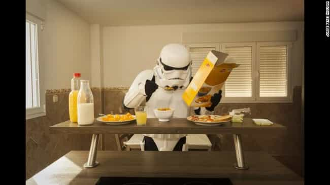Making Sure to Start the Day R... is listed (or ranked) 3 on the list 16 Star Wars Photos That Will Make You Love Stormtroopers