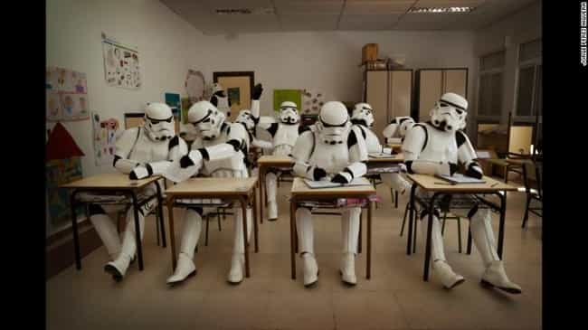 Stormtroopers Have to Wear Sch... is listed (or ranked) 5 on the list 16 Star Wars Photos That Will Make You Love Stormtroopers