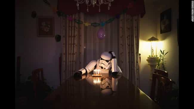 The Loneliest Birthday Boy is listed (or ranked) 7 on the list 16 Star Wars Photos That Will Make You Love Stormtroopers