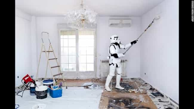 Guess What a Stormtrooper'... is listed (or ranked) 8 on the list 16 Star Wars Photos That Will Make You Love Stormtroopers