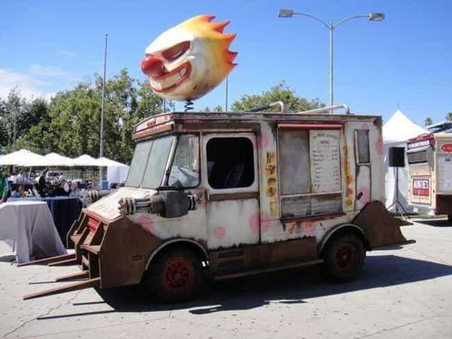 This Creepy Ice Cream Van Runs... is listed (or ranked) 2 on the list The Creepiest Ice Cream Trucks Ever
