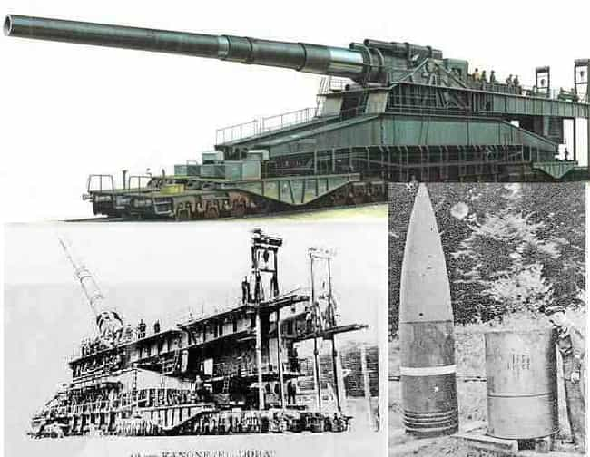 Gustav and Dora is listed (or ranked) 4 on the list The Coolest Artillery Pieces in History