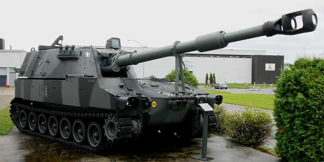 M109 Paladin Self-Propelled Ar... is listed (or ranked) 1 on the list The Coolest Artillery Pieces in History