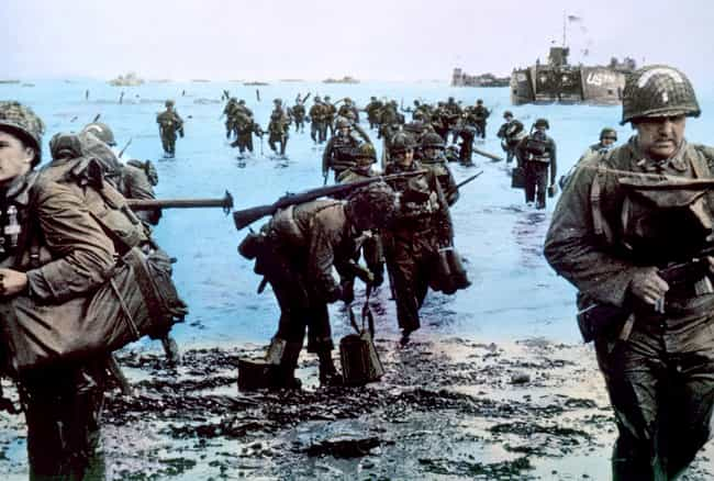 Reinforcements Landing at Norm... is listed (or ranked) 2 on the list Colorized Photos from Military History