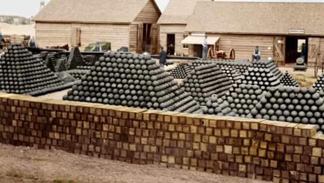 Stocks of Cannonballs, America... is listed (or ranked) 3 on the list Colorized Photos from Military History