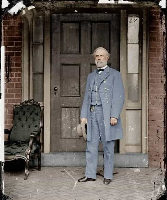 General Robert E. Lee, America... is listed (or ranked) 3 on the list Colorized Photos from Military History