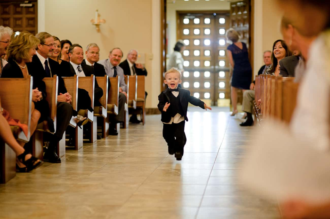 """""""Unattended Coffee Bar Ale is listed (or ranked) 4 on the list The Funniest Ring Bearer Fails of All Time"""