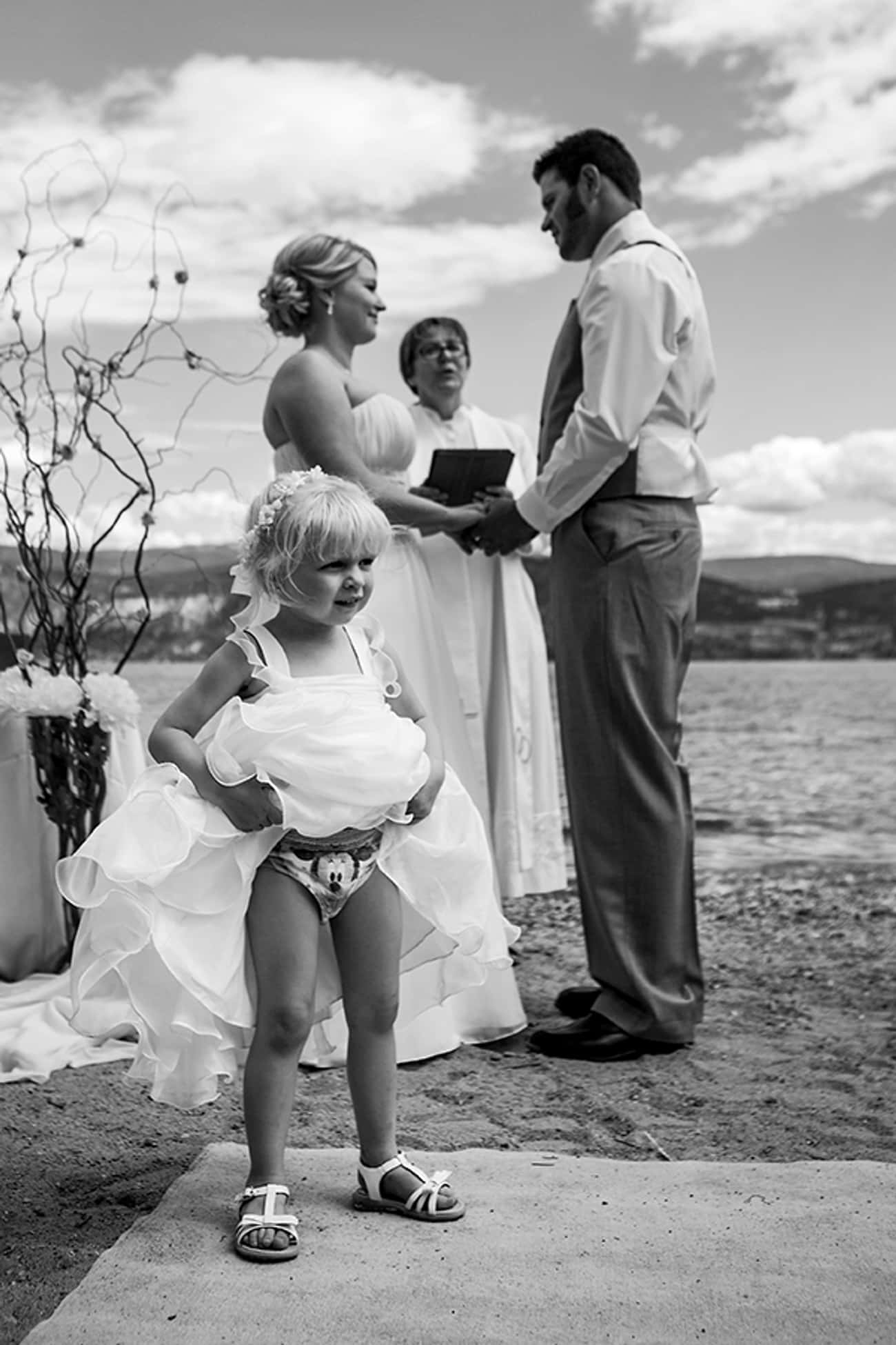 """One Sec, Lemme Just Adjus is listed (or ranked) 2 on the list The Funniest Flower Girl Fails of All Time"
