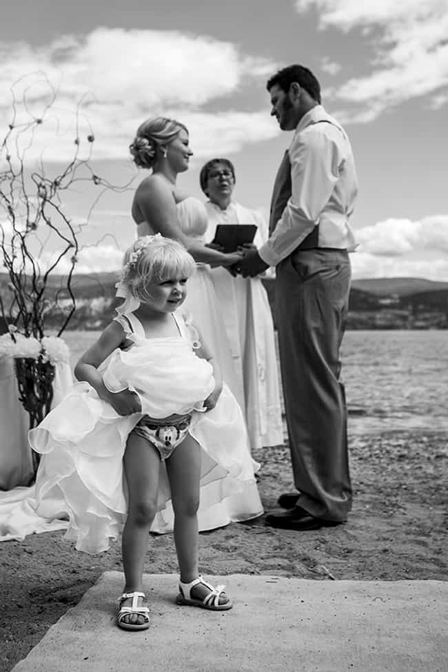 """One Sec, Lemme Just Adjus... is listed (or ranked) 2 on the list The Funniest Flower Girl Fails of All Time"