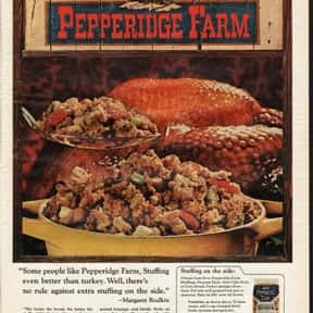 Pepperidge Farms is listed (or ranked) 14 on the list The Most Nostalgia-Inducing Thanksgiving Brands