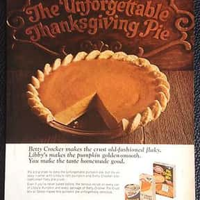 Betty Crocker is listed (or ranked) 7 on the list The Most Nostalgia-Inducing Thanksgiving Brands