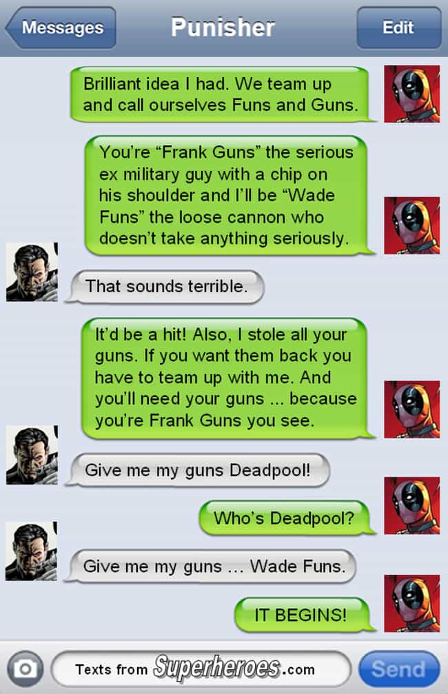 Netflix Summer 2028 Funs... is listed (or ranked) 3 on the list The Funniest Texts From Deadpool