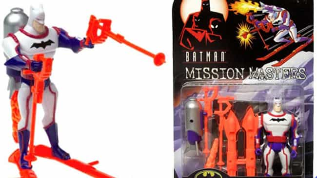 Slalom Racer Batman is listed (or ranked) 1 on the list The Dumbest Batman Action Figures Ever Produced