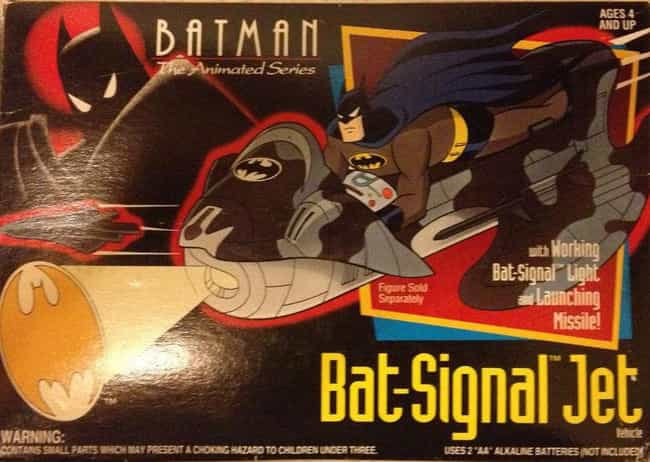 Bat Signal Jet is listed (or ranked) 4 on the list The Dumbest Batman Action Figures Ever Produced