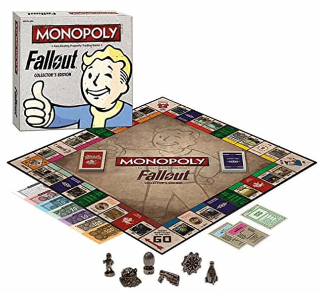 Monopoly: Fallout Collector's ... is listed (or ranked) 3 on the list 20 Insanely Great Gift Ideas for Fallout Fans