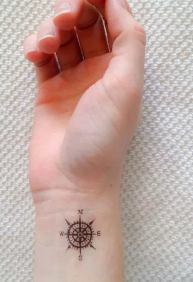 Wanderlust tattoo ideas photos of wanderlust tattoos this gorgeous little compass is so compact itd look great almost anywhere voltagebd Image collections