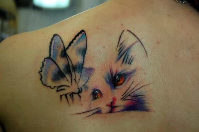 This Stunning Watercolor Cat a... is listed (or ranked) 4 on the list Amazing Cat Tattoos You Need to Get Now