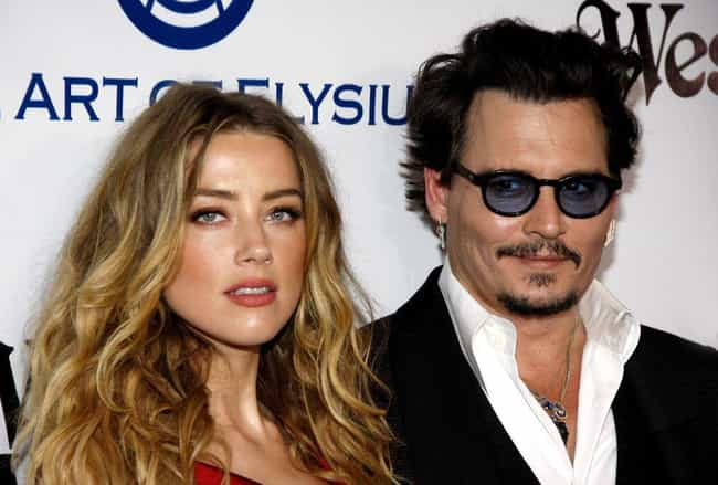 Johnny Depp and Amber Heard is listed (or ranked) 3 on the list Famous Couples That Began as Affairs