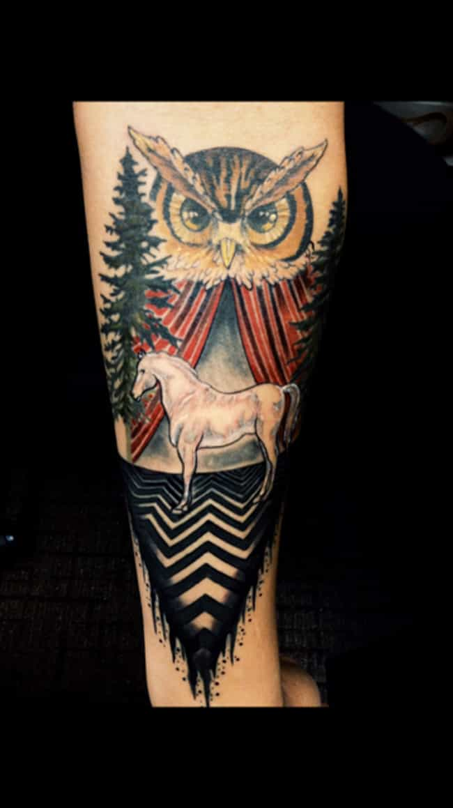 Everybody Forgets About the Wh... is listed (or ranked) 1 on the list 24 Incredible Tattoos Inspired by Twin Peaks