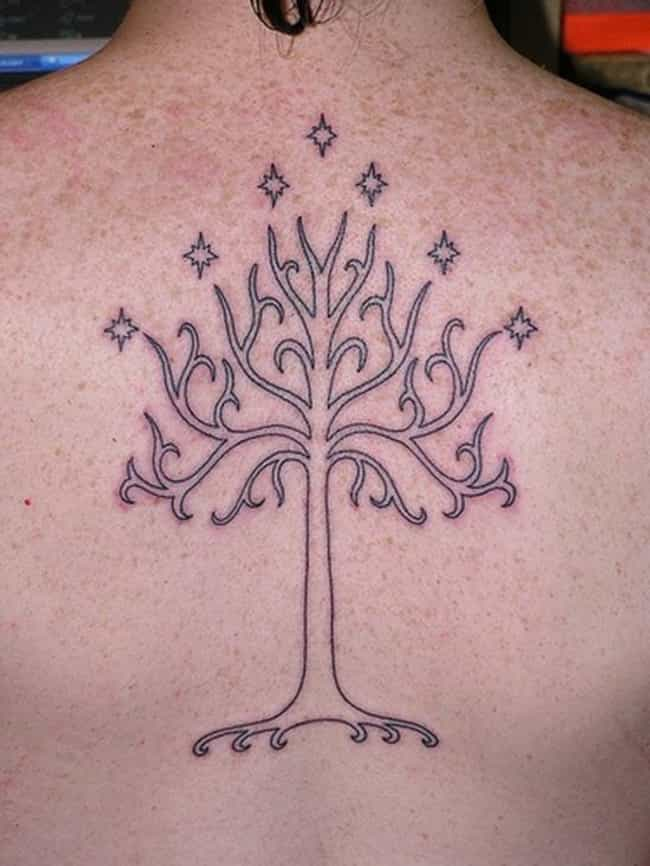The White Tree of Gondor... is listed (or ranked) 3 on the list 28 Tattoos Inspired by Lord of the Rings