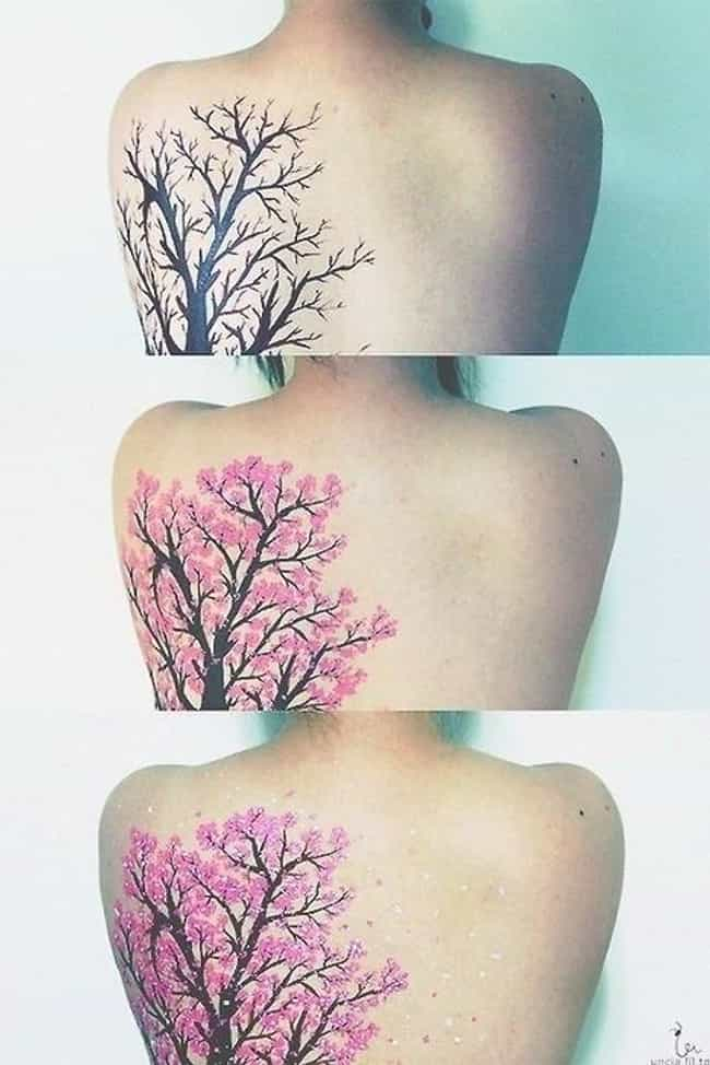 This Blooming Cherry Blossom T... is listed (or ranked) 4 on the list 45 Amazing Nature Tattoos