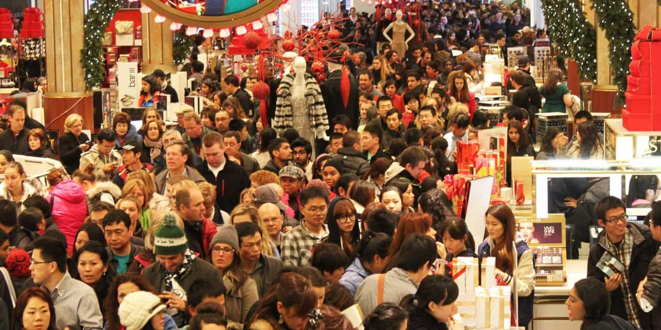 Black Friday is listed (or ranked) 4 on the list 17 Of The Strangest Thanksgiving Traditions Ever