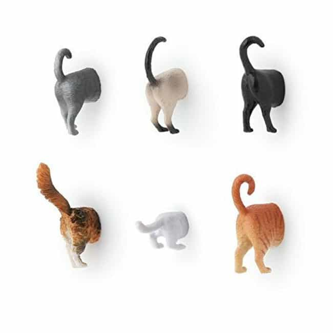 Cat Butt Magnets is listed (or ranked) 4 on the list Adorable Gifts for Cat Lovers