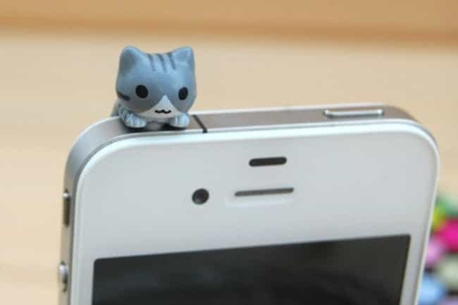 Cat Smartphone Plug is listed (or ranked) 3 on the list Adorable Gifts for Cat Lovers