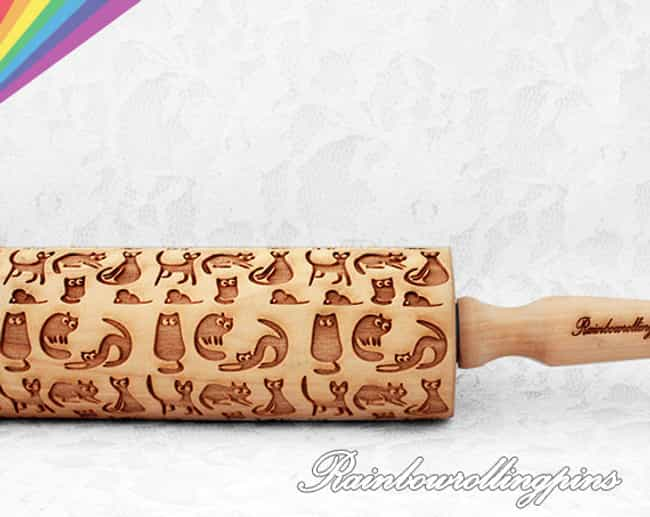 Cat Pattern Embossing ro... is listed (or ranked) 2 on the list Adorable Gifts for Cat Lovers