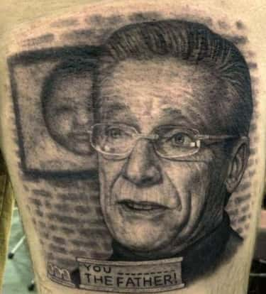 You're Not the Father, But is listed (or ranked) 2 on the list Hilarious TV Show Host Tattoos