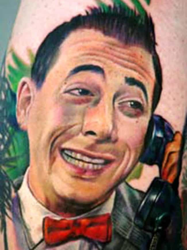 Hopefully This Pee-Wee Tattoo ... is listed (or ranked) 1 on the list Hilarious TV Show Host Tattoos